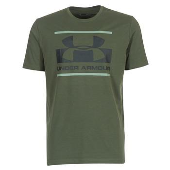 Textil Homem T-Shirt mangas curtas Under Armour BLOCKED SPORTSTYLE LOGO Cáqui