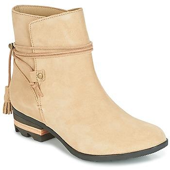 Sapatos Mulher Botas baixas Sorel Farah Short Bege