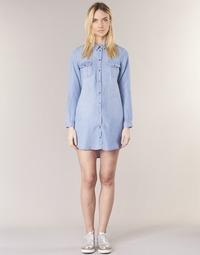 Textil Mulher Vestidos curtos Vero Moda VMSILLA Azul / Claro