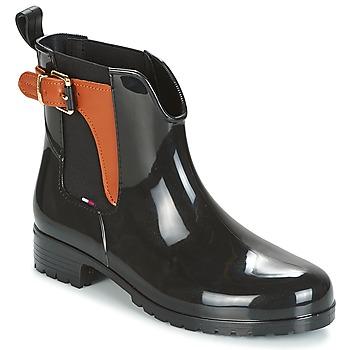 Sapatos Mulher Botas de borracha Tommy Hilfiger OXLEY Preto