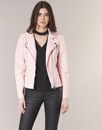 Textil Mulher Casacos de couro/imitação couro Only STEADY Rosa