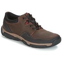 Sapatos Homem Sapatilhas Clarks WALBECK EDGE Castanho / Pele