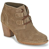 Sapatos Mulher Botins Clarks CARLETA LYON Cáqui