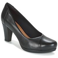 Sapatos Mulher Escarpim Clarks CHORUS CAROL Preto / Pele