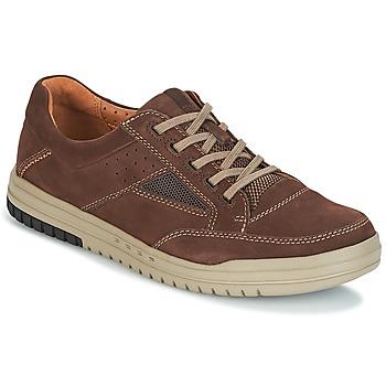 Sapatos Homem Sapatilhas Clarks UNRHOMBUS GO Escuro / Castanho / Nub