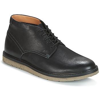 Sapatos Homem Botas baixas Clarks BONNINGTON TOP Preto / Pele