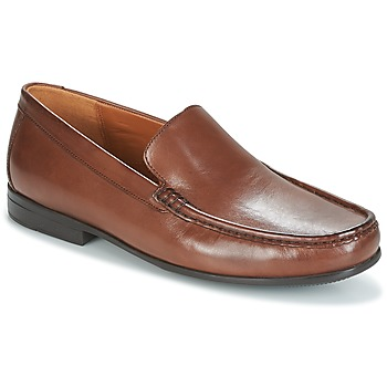 Sapatos Homem Mocassins Clarks CLAUDE PLAIN Castanho / Pele