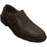 Sapatos Homem Mocassins Fleximax Homem de sapato com pá lisa  em Brown marrón