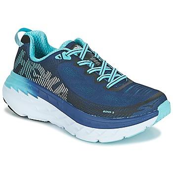 Sapatos Mulher Sapatilhas de corrida Hoka one one BONDI 5 Azul / Preto