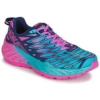 Sapatos Mulher Sapatilhas de corrida Hoka one one W CLAYTON 2 Azul / Rosa