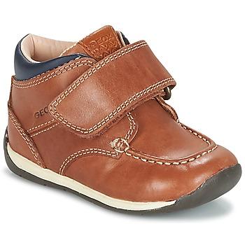 Sapatos Rapaz Sapatilhas Geox B EACH BOY Castanho