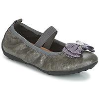 Sapatos Rapariga Sabrinas Geox J PIUMA BALLERINES Cinza