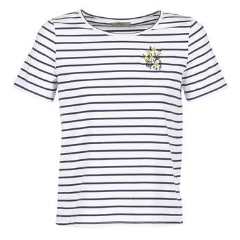 Textil Mulher T-Shirt mangas curtas Betty London INNAMOU Branco / Marinho