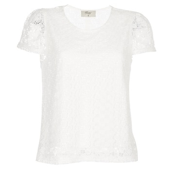Textil Mulher Tops / Blusas Betty London I-LOVI Branco