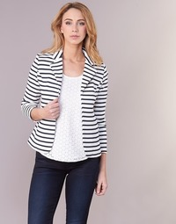 Textil Mulher Casacos/Blazers Moony Mood IFAROUCHE Branco / Marinho