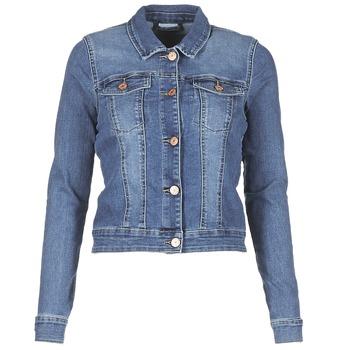 Textil Mulher casacos de ganga Noisy May NMDEBRA Azul