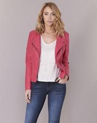 Textil Mulher Casacos de couro/imitação couro Only AVA Rosa