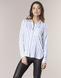 Textil Mulher camisas Only CANDY Branco / Azul