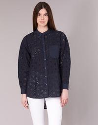 Textil Mulher camisas Only IRMA Marinho