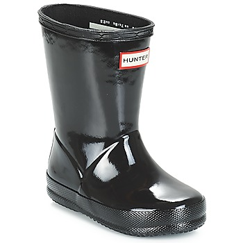Sapatos Rapariga Botas de borracha Hunter KIDS FIRST CLASSIC GLOSS Preto