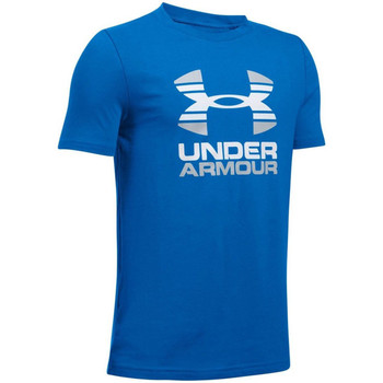 Textil Criança T-Shirt mangas curtas Under Armour UA Two Tone Logo SS Kids Tee 1298292-907