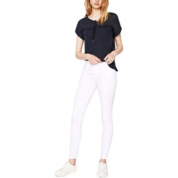 Textil Mulher Collants Pepe jeans Regent Vaqueros Blancos Mujer Branco