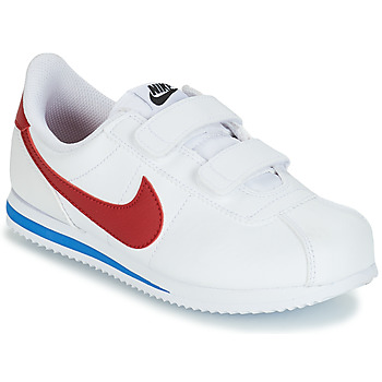 Sapatos Rapaz Sapatilhas Nike CORTEZ BASIC PRE-SCHOOL Branco / Azul / Vermelho