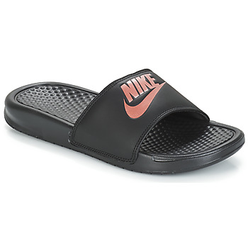 Sapatos Mulher chinelos Nike BENASSI JUST DO IT W Preto / Ouro