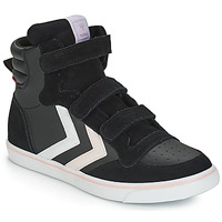 Sapatos Rapariga Sapatilhas de cano-alto Hummel STADIL LEATHER JR Preto