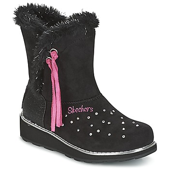 Sapatos Rapariga Botas de neve Skechers SPARKLES Preto / Rosa