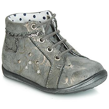 Sapatos Rapariga Sapatilhas de cano-alto Catimini FANETTE Cinzento - castanho / Dourado