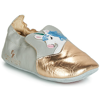 Sapatos Rapariga Chinelos Catimini LICORNETTE Cinza / Ouro