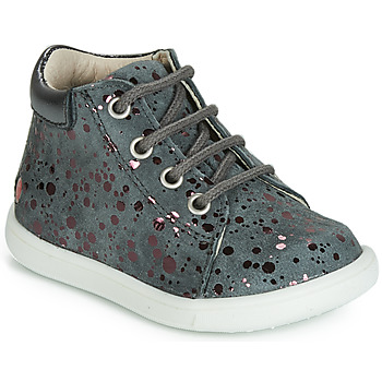 Sapatos Rapariga Sapatilhas de cano-alto GBB NICKY Cinzento - pintas / Rosa