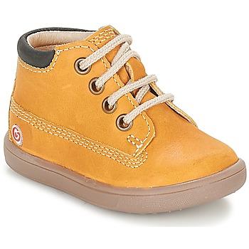 Sapatos Rapaz Sapatilhas de cano-alto GBB NORMAN Mostarda