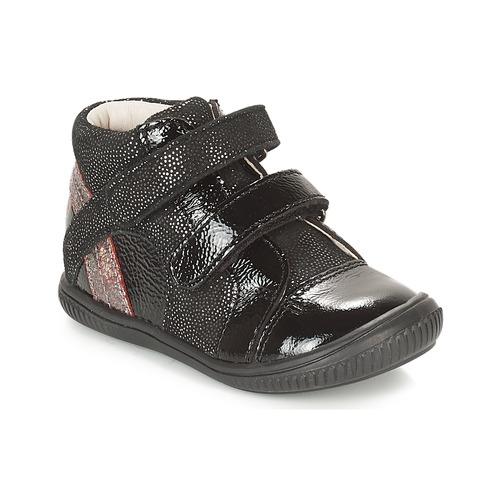 Sapatos Rapariga Sapatilhas de cano-alto GBB ROXANE Preto / Prateado