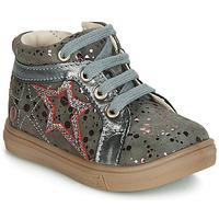 Sapatos Rapariga Sapatilhas de cano-alto GBB NAVETTE Cinza / Rosa