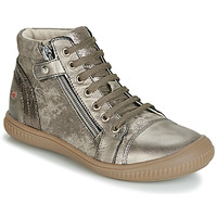 Sapatos Rapariga Sapatilhas de cano-alto GBB RACHIDA Toupeira / Bronze