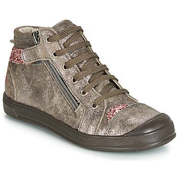Sapatos Rapariga Sapatilhas de cano-alto GBB DESTINY Toupeira / Rosa
