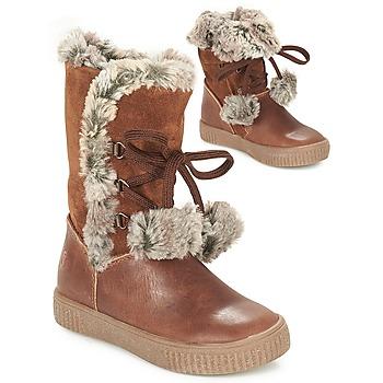 Sapatos Rapariga Botas GBB NOUSTIK Conhaque