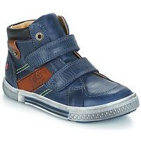 Sapatos Rapaz Botas baixas GBB RENDALL Azul / Castanho