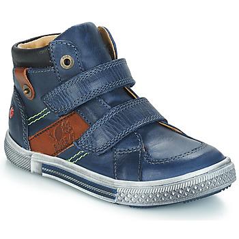Sapatos Rapaz Botas baixas GBB RENDALL Marinho / Castanho