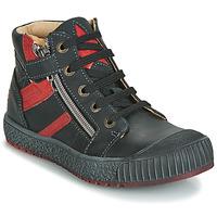 Sapatos Rapaz Sapatilhas de cano-alto GBB RAMBOUTAN Preto-tijolo