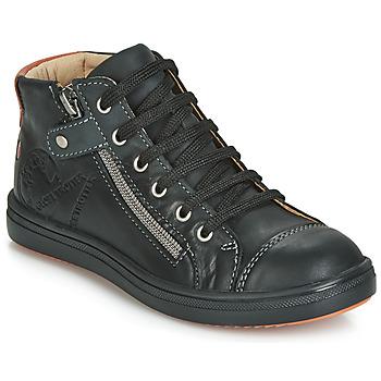 Sapatos Rapaz Sapatilhas de cano-alto GBB NICO Preto