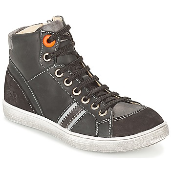 Sapatos Rapaz Sapatilhas de cano-alto GBB ANGELO Preto