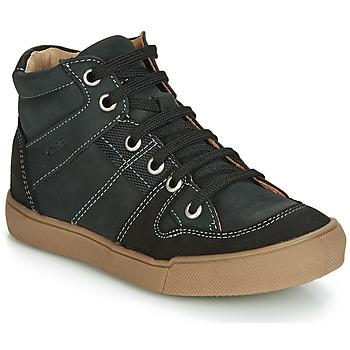 Sapatos Rapaz Sapatilhas de cano-alto GBB NEMOON Preto / Branco