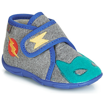 Sapatos Rapaz Chinelos GBB SUPER DOUDOU Cinza / Azul