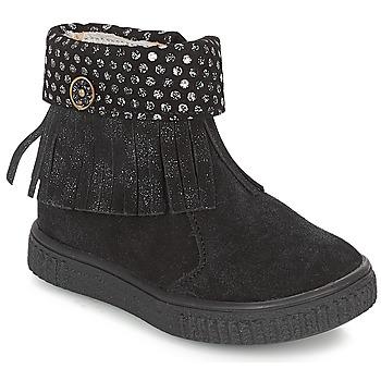 Sapatos Rapariga Botas baixas Catimini PERETTE Preto / Prateado