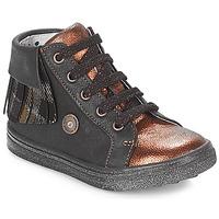 Sapatos Rapariga Sapatilhas de cano-alto Catimini LOULOU Preto / Cobre
