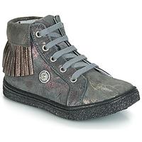 Sapatos Rapariga Sapatilhas de cano-alto Catimini LOULOU Cinzento - castanho / Rosa