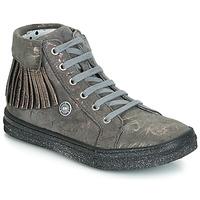 Sapatos Rapariga Sapatilhas de cano-alto Catimini LOULOU Cinza / Rosa